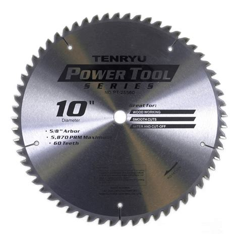 10 inch blade tenryu pt 25560 10 inch carbide tipped table saw blade ebay