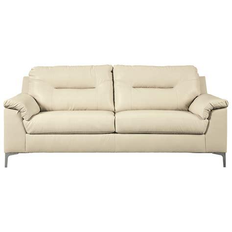 signature design by tensas contemporary sofa with