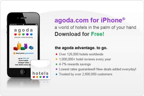 agoda app agoda goes mobile with free iphone app