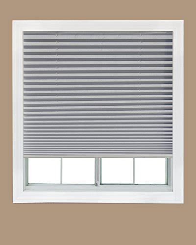 fabric shade original light filtering pleated white 36 quot x72 easy lift trim at home cordless pleated light filtering