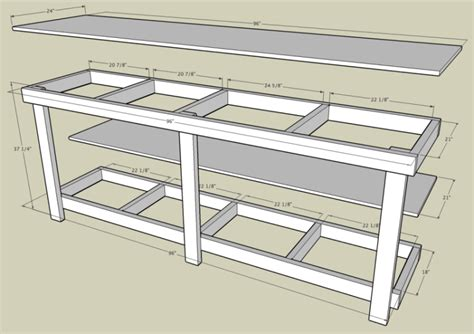 free work bench plans garage workbench
