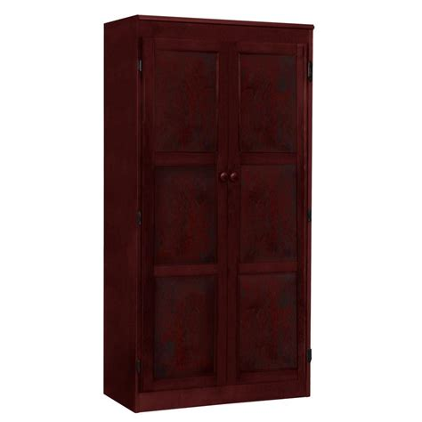 Concepts In Wood Multi Use Storage Pantry In Cherry Kt613a Wood Kitchen Storage Cabinets