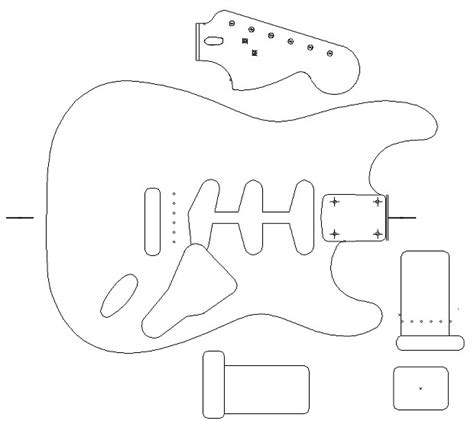 fender stratocaster 1960 template vinyl guitar making