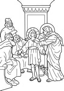 Jesus teaching in temple colouring pages