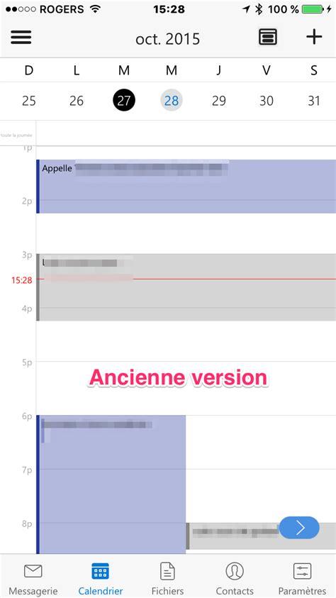 2 Calendrier Outlook Nouvelle Version D Outlook Pour Ios Et Fusion Avec