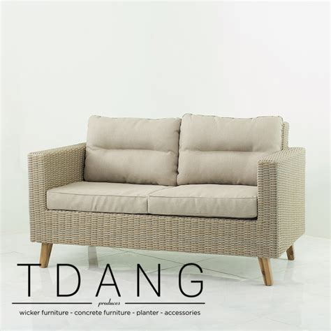 Wicker Sofa by Fiji Wicker Sofa 2 Seats Tdang Wicker Furniture