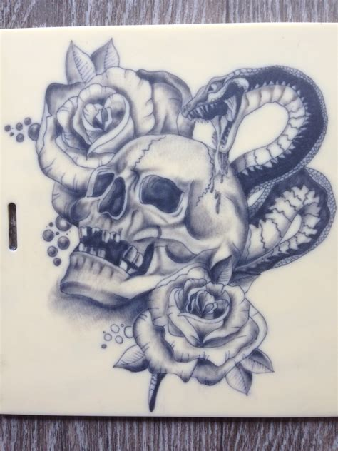 skull rose snake tattoo skull roses drawing at getdrawings free for personal
