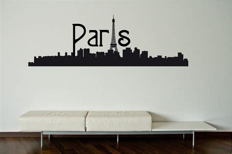 sticker wall skyline wall decal wall sticker by decoryourwall on etsy