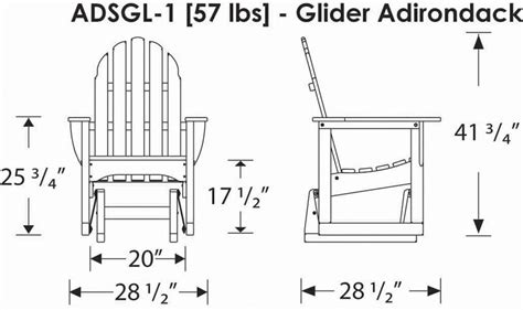 polywood adirondack style glider chair   porch