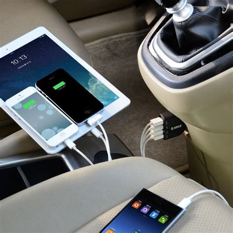 Orico Usb Car Charger 4 Port Uca 4u Diskon orico usb car charger 4 port uca 4u black jakartanotebook