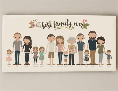 good cheap gifts for extended family extended family portrait grandparent gift custom family