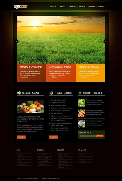 agriculture themes html agriculture wordpress theme 36672