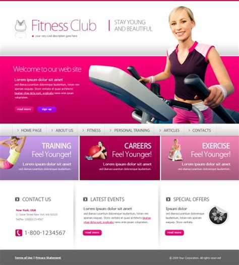 Free Xhtml Website Template Sports Fitness Free Web Templates All Free Web Resources For Fitness Website Design Templates