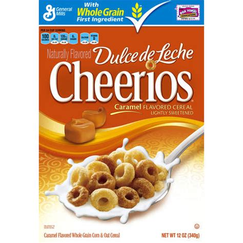 whole grains in cheerios cheerios dulce de leche caramel flavored whole grain corn