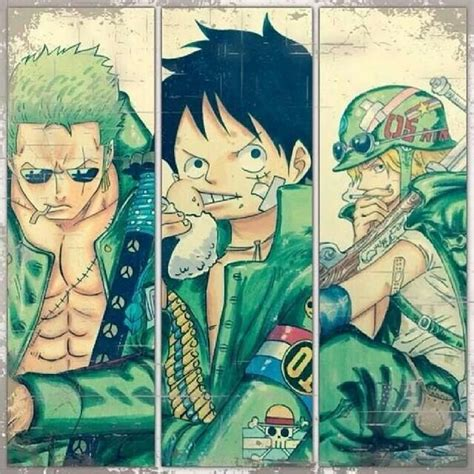 Onepiece Luffy Sanji Zoro the o jays and one on