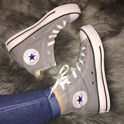 light grey converse high tops converse shoes light gray high tops poshmark