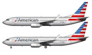 new american american airlines 737 823 in the new livery norebbo