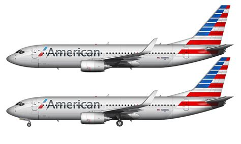new colors american airlines 737 823 in the new livery norebbo
