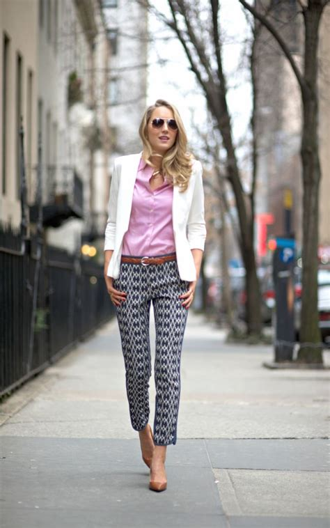 how to wear printed pantstrousers fall2013 pinterest statement pieces to wear to work glam radar