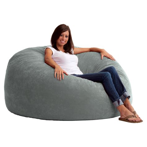 fuf bean bag sofa fuf 5 ft king comfort suede bean bag sofa bean bags at