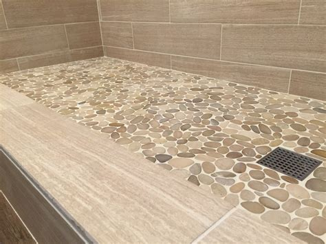 river rock shower floor river shower floor installation gurus floor