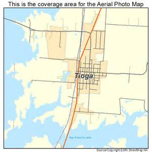 aerial photography map of tioga tx