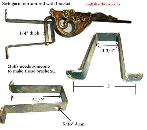 swing arm hardware swing arm curtain rod restoration hardware