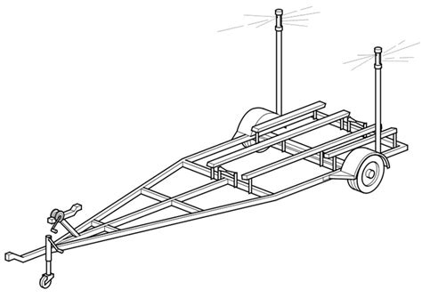 coloring book exles coloring page single axle trailer for boat img 19103