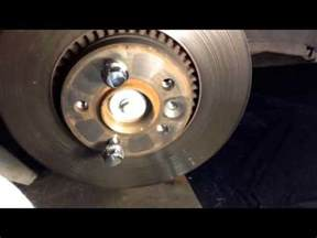 volvo   front brake pad  rotor replacement youtube