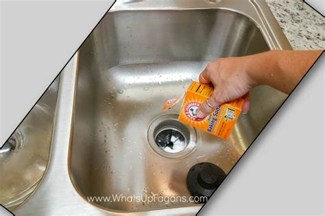 how to clean stainless steel sink with baking soda cleaning kitchen sink with baking soda 13 simple