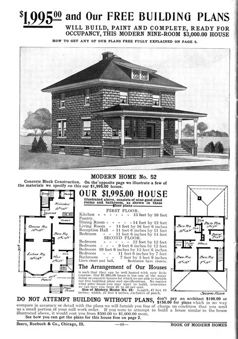 four square house plans file american foursquare sears 52 gif wikipedia