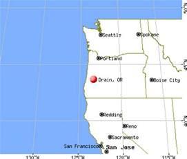 drain oregon map drain oregon or 97435 profile population maps real