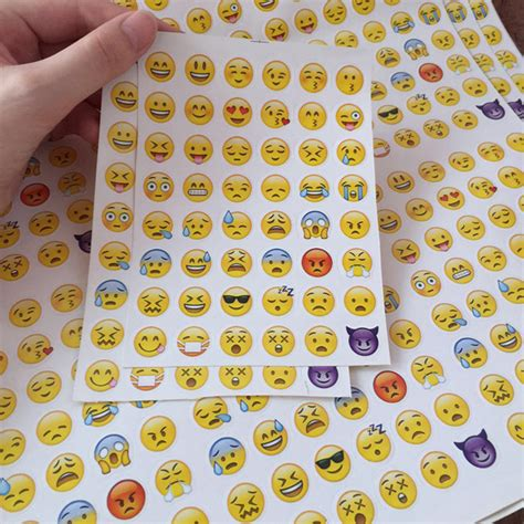 Decorative Cutting Sticker For Mobile Phone Handphone Stiker Lucu 10 sheets die cut emoji sticker decor for album scrapbooking diary phone laptop ebay