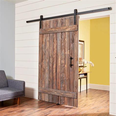 build  simple rustic barn door  family handyman