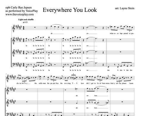 this is house music song everywhere you look sheet music the voiceplay store