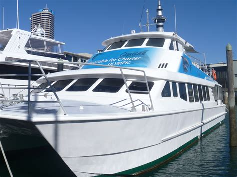 fishing boat hire auckland olympic dream auckland charter boat 58ft catamaran