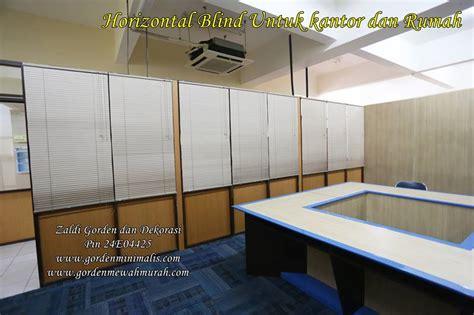 Horizontal Blind Untuk Kantor model gorden horizontal blind motif kayu model gorden