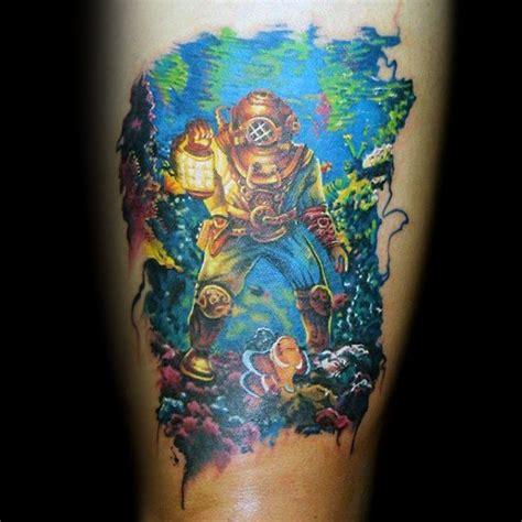 scuba diver tattoo designs 60 diver designs for underwater ink ideas