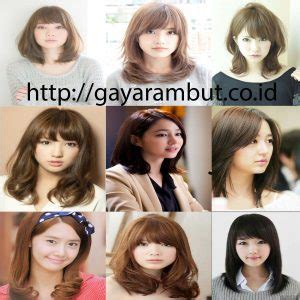 4 Model Rambut Ala Korea by 80 Model Rambut Wanita Sebahu Ala Korea Dan Berponi Lurus