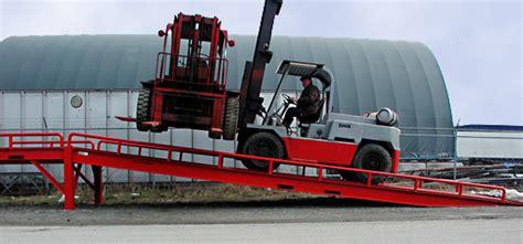 Standing Forklift by Forklift Ramps Mobile Dock System Portable Loading Docks