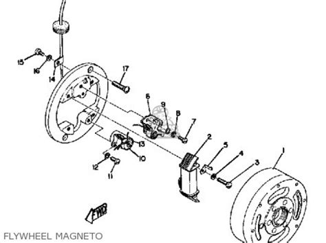 yamaha jt1 electrical wiring and parts diagram