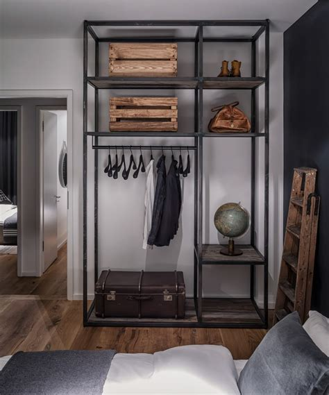 think different industrial style closet designs modern