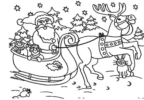 santa claus sleigh coloring pages best photos of santa sleigh and reindeer coloring page