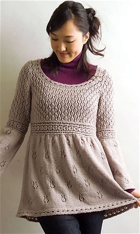 free pattern jumper dress empire waist pullover ravelry knitting sweaters