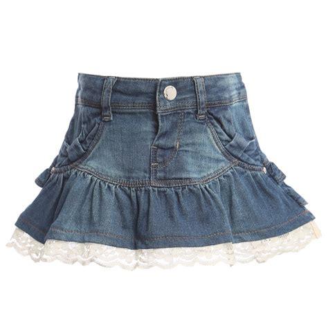 mayoral baby denim skirt with frills childrensalon