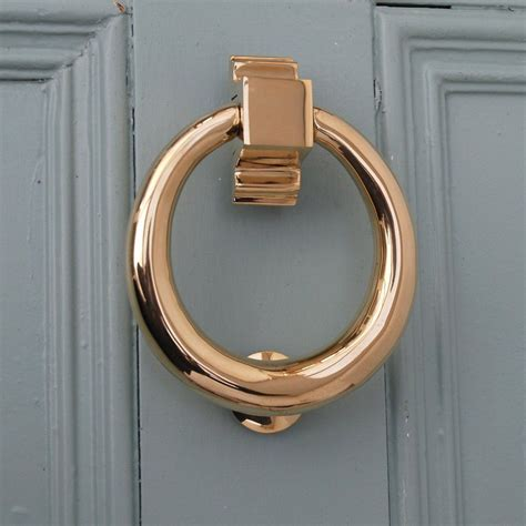 brass hoop door knocker hardware doors
