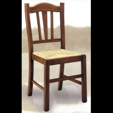 sedie in legno arte povera 4 sedie in legno massello arte povera seduta paglia n
