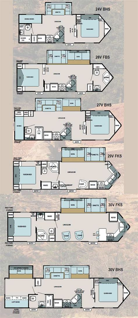 Forest River Travel Trailers Floor Plans | forest river st super lite travel trailer floorplans