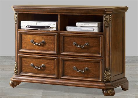 bedroom set with hardwood solids birch veneers wood and 4 drawer media chest with select hardwood solids birch