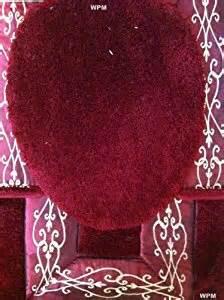 Burgundy Bathroom Rugs 3 Bath Rug Set Luxurious Embroidered Burgundy Bathroom Rugs Contour Mat With
